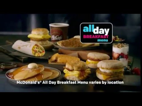 McDonald's All Day Breakfast Commercial - YouTube