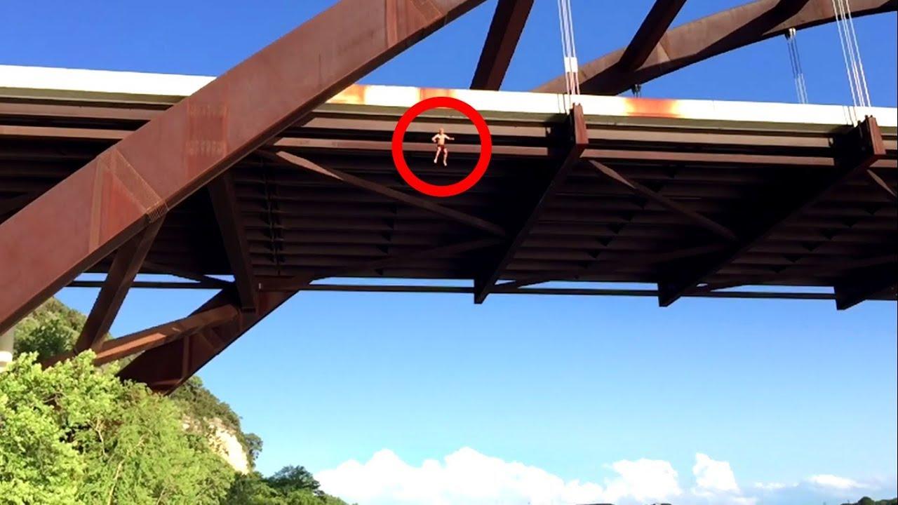 30m 100ft Jump Pennybacker Bridge Austin Tx Youtube