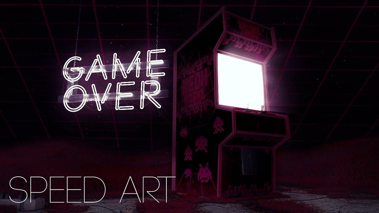 GAME OVER - Wallpaper Speedart (download in desc) - YouTube