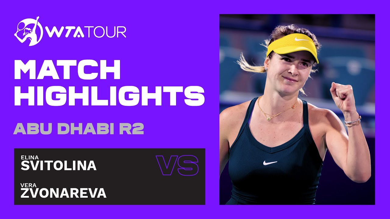 Vera Zvonareva vs. Elina Svitolina | 2021 Abu Dhabi Second Round | WTA Highlights