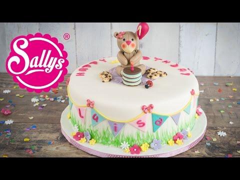 Kinder Geburtstagstorte mit Teddy / fruchtige Vanilletorte / Torte für Luisa