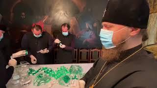В Ильинском  монастыре начали готовить антисептик