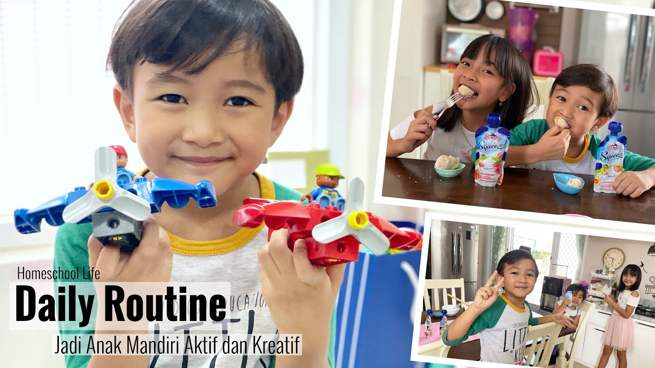 Daily Routine Zara   Menjadi Anak Indonesia Mandiri Sehat dan Kreatif bersama Cimory Yogurt Squeeze