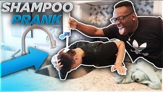 Download SHAMPOO PRANK ON WIFE!! **she freaked out** Mp3 and Videos
