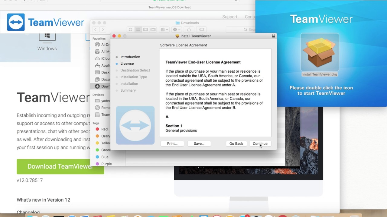 How to Download and Install TeamViewer on macOS Mac OS X