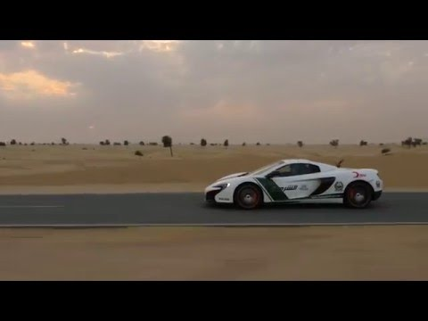 Drone vs McLaren in Dubai