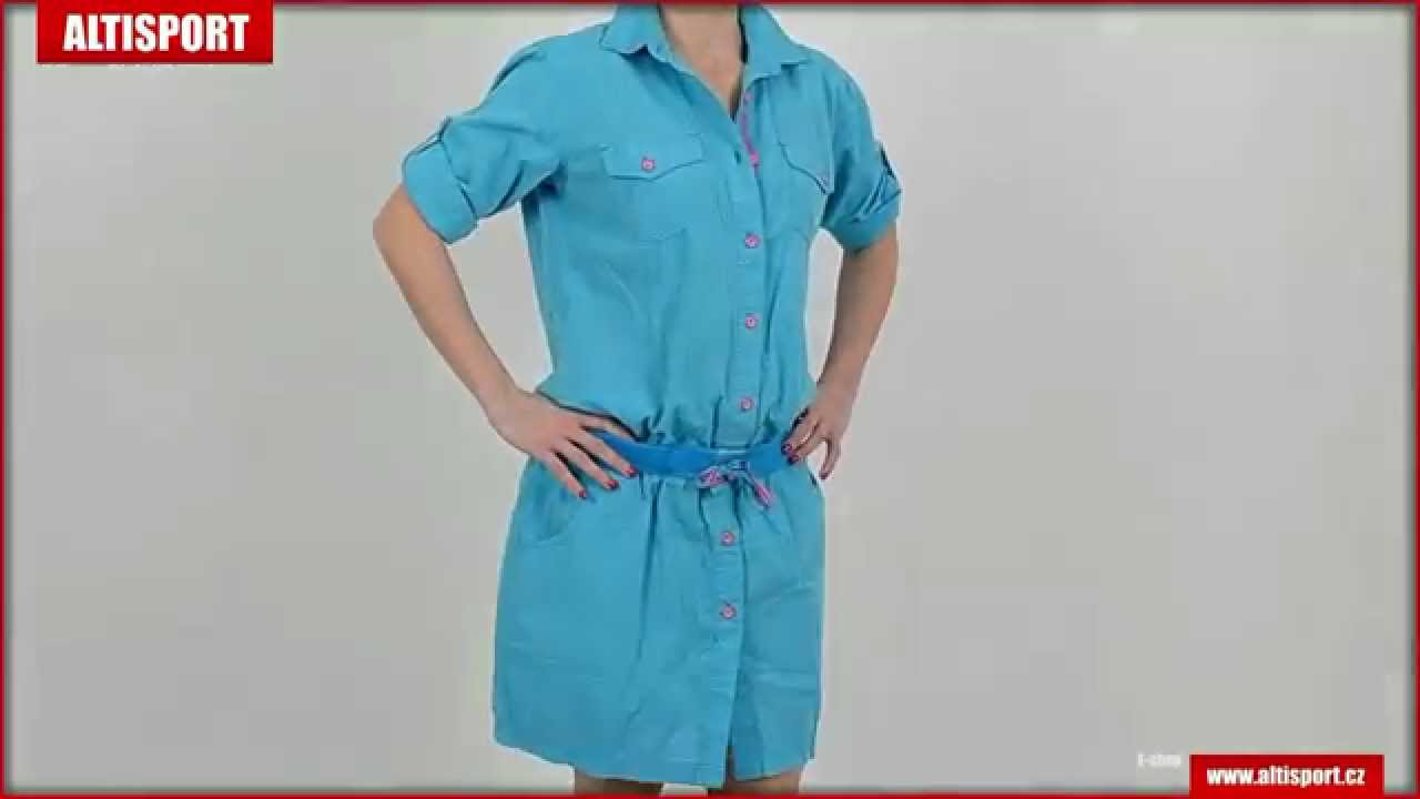 962bc21843d dámské šaty loap natura ccw1508 modrá - YouTube