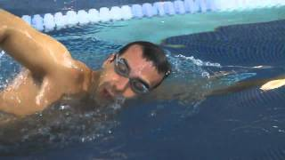 Front crawl Swimming technique - over water arm action