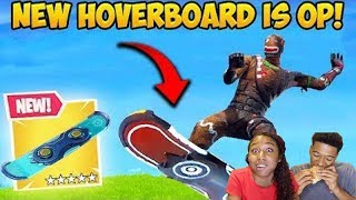 *NEW* HOVERBOARD IS INSANE! - Fortnite Funny Fails and WTF Moments! MUKBANG REACTION