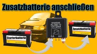 Zusatzbatterie anschließen