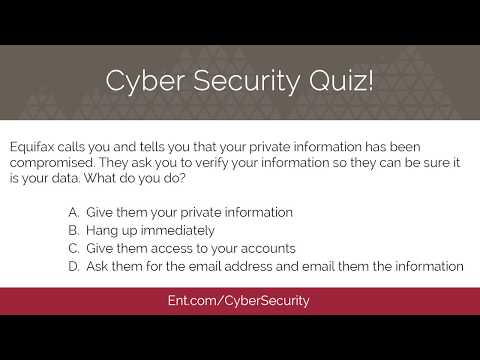 Cyber Security Quiz - Ent Credit Union