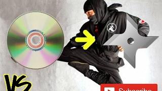 How to make a Ninja Star (Shuriken) with CDs !!!!