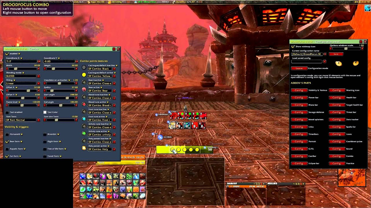 How to configure droodfocus for ferals addon guide youtube for Cuisinier wow guide