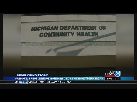 Report: 8 monitored in MI for Ebola virus