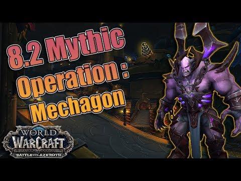 BFA - 8.2 PTR Mythic Operation: Mechagon Full Dungeon Run! Demonology Warlock POV!