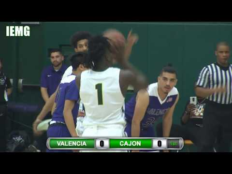 LIVE BASKETBALL! Valencia vs. Cajon CIF Division II State Playoffs (3-7-18)