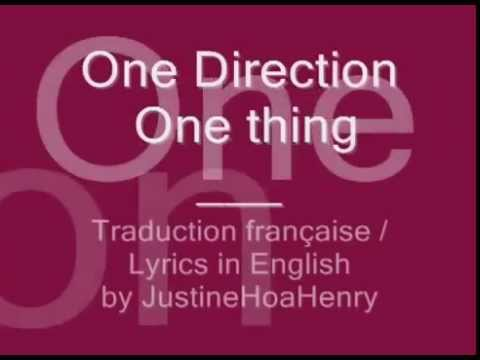 One Direction   One Thing   Traduction française   Lyrics in