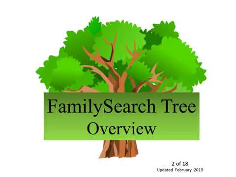 FamilySearch Tree  Overview (Updated July 2019) - Judy Sharp