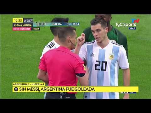 Argentina lo ganaba, pero terminó perdiendo 4-2 contra Nigeria