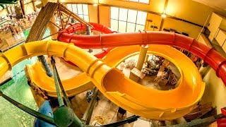 Yellow Totem Towers Water Slide | Great Wolf Lodge Sandusky
