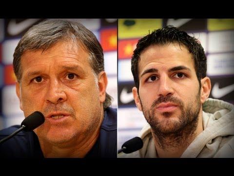 FC Barcelona -- La rueda de prensa de Cesc Fábregas y Tata Martino, íntegra