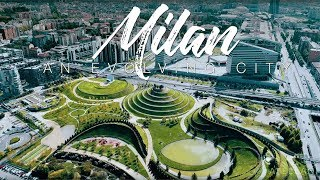 Milan An Evolving City 4K drone footage of Milano Skyline in Italy