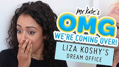Liza Koshy's Dream Office Makeover   OMG We're Coming Over   Mr. Kate