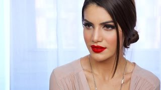 easy classic red lip makeup look   makeup tutorials and beauty reviews   camila coelho