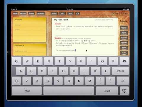 Poetry Writing Software - iPad Poem Writing Spoken Word App, Poet's Pad