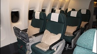 Cathay Pacific 777-300ER Premium economy CX831 New York to Hong Kong (flight review #29)