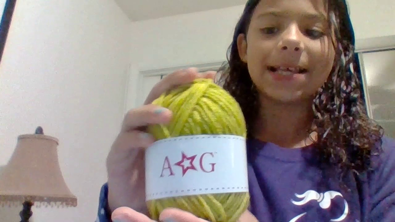 American Girl Doll Scarf Knitting Kit Youtube