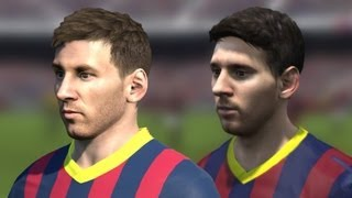 FIFA 14 vs PES 14 Head to Head Faces (3 angles view) | Barcelona | HD 1080p