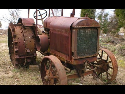 Cold Start Diesel Old Engine Tractors First Start in Many Years