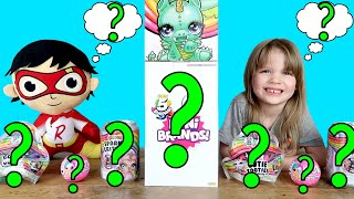 Twin Telepathy Toy Unboxing Challenge Vs Ryan Toysreview Red Titan Plush! Poopsies & 5 Surprise