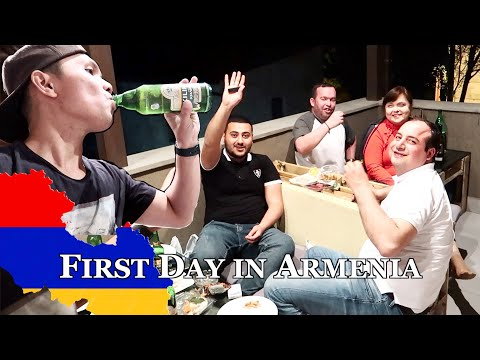First Day In Yerevan Armenia | Dinner + Drinking Experience With #Russian And #Armenian