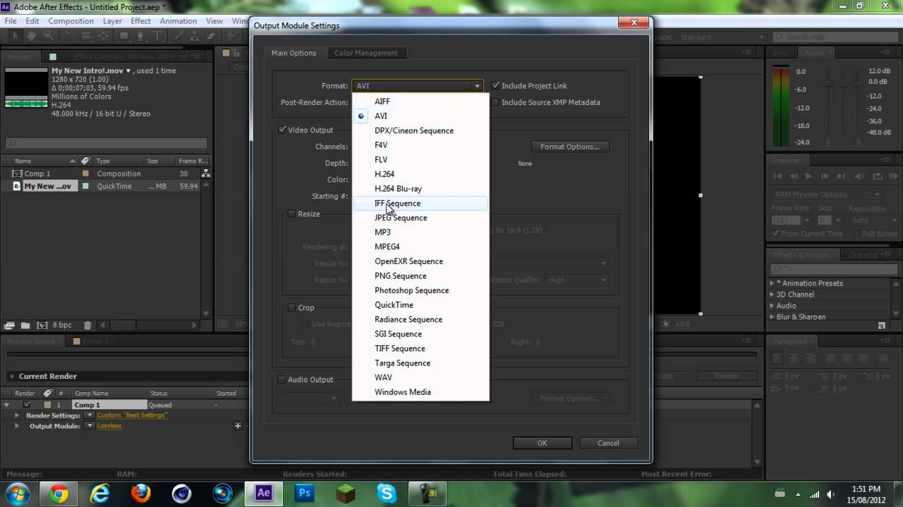 Adobe After Effects CS6| Best Render Settings | Fast Render/Good ...