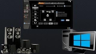 Как настроить звук домашнего кинотеатра 5 1 подключенного к компьютеру в windows 7 8 10(В этом видео покажу как настроить что бы звучали все колонки подключенного домашнего кинотеатра к компьюте..., 2015-09-04T18:24:31.000Z)