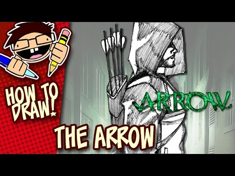 How To Draw THE ARROW (The CW TV Series) Easy Step-by-Step Tutorial