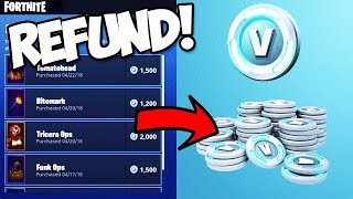 *TUTORIAL* HOW TO RETURN COSMETICS IN ITEM SHOP FOR VBUCKS!!! (Fortnite Battle Royale)