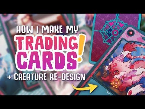How I Make TRADING CARDS! + Creature Re-Design