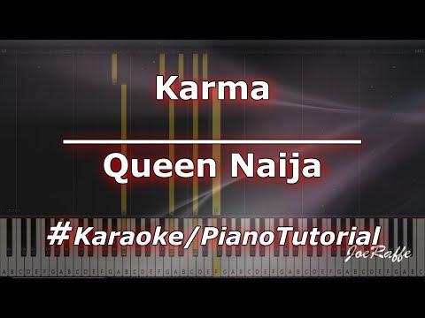 Queen Naija - Karma KaraokePianoTutorialInstrumental