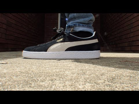 PUMA SUEDE CLASSIC BLACK REVIEW W/ ON FEET