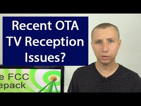 Recent OTA TV Reception Issues From FCC Repack Explained