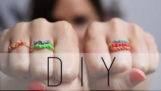DIY : Bague en macramé / Macramé Rings Friendship Rings (English subs)