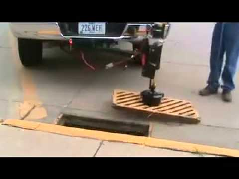Manhole Cover Lifter Removing Sewer Grate Mpg Youtube