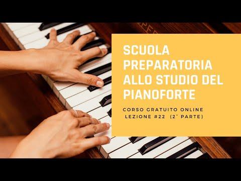 Beyer op.101-Corso di pianoforte gratuito-Lezione 22(2°parte):Esercizi 41,42,43 con accompagnamento.