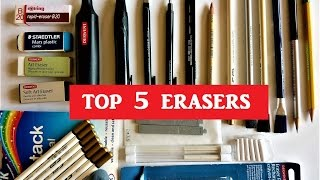 Top 5 Erasers for Graphite drawing, Best Erasers for Pencil Drawing