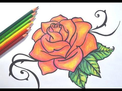 desenhando uma rosa passo a passo youtube