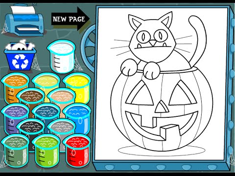 Black Cat Coloring Pages For Kids - Black Cat Coloring Pages - YouTube