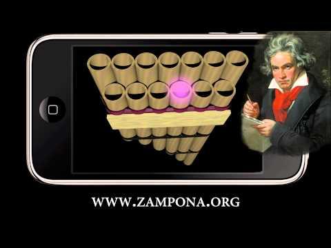 Ode to Joy Beethoven Zampoña Tutorial